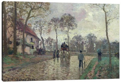 The Coach To Louveciennes, 1870 Canvas Art Print