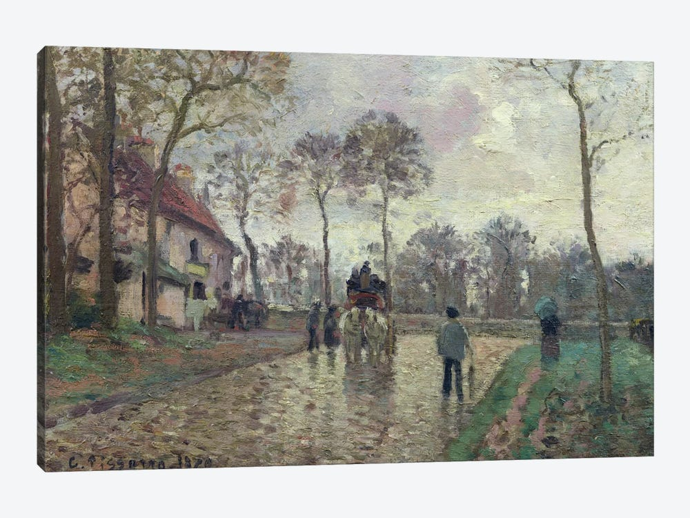 The Coach To Louveciennes, 1870 by Camille Pissarro 1-piece Canvas Artwork