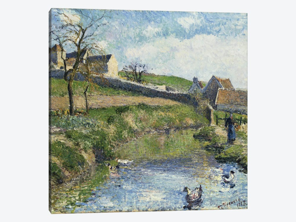 The Farm At Osny, 1883 by Camille Pissarro 1-piece Canvas Art