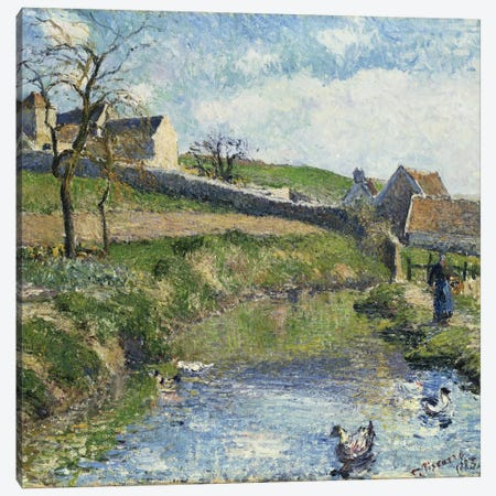 The Farm At Osny, 1883 Canvas Print #BMN6687} by Camille Pissarro Canvas Wall Art