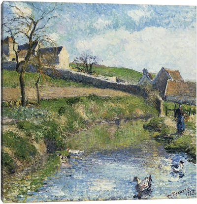 The Farm At Osny, 1883 Canvas Art Print
