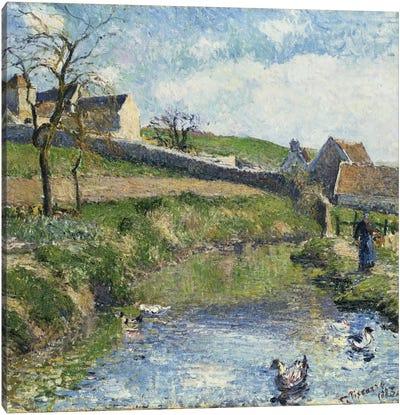The Farm At Osny, 1883 Canvas Art Print
