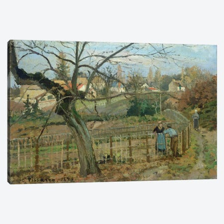 The Fence, 1872 Canvas Print #BMN6688} by Camille Pissarro Canvas Art Print