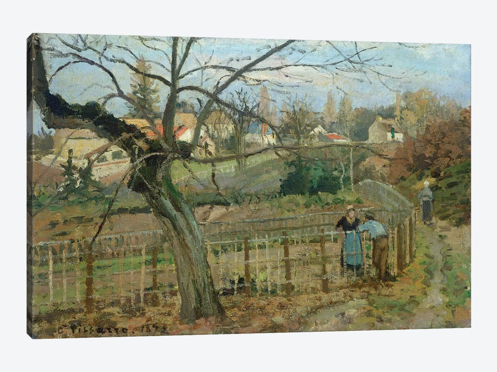 The Fence, 1872 by Camille Pissarro 1-piece Canvas Print