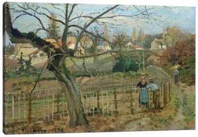 The Fence, 1872 Canvas Art Print