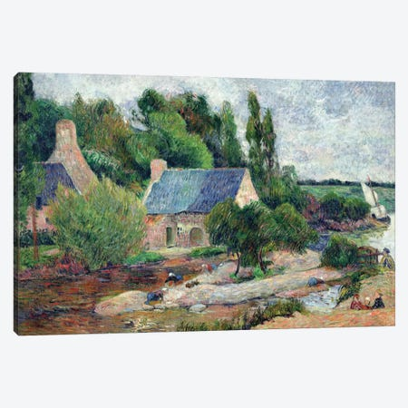 Washerwomen at Pont-Aven, 1886  Canvas Print #BMN668} by Paul Gauguin Canvas Art
