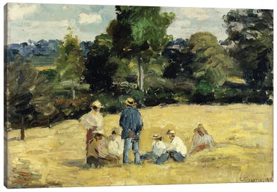 The Harvesters Rest, Montfoucault, 1875 Canvas Art Print