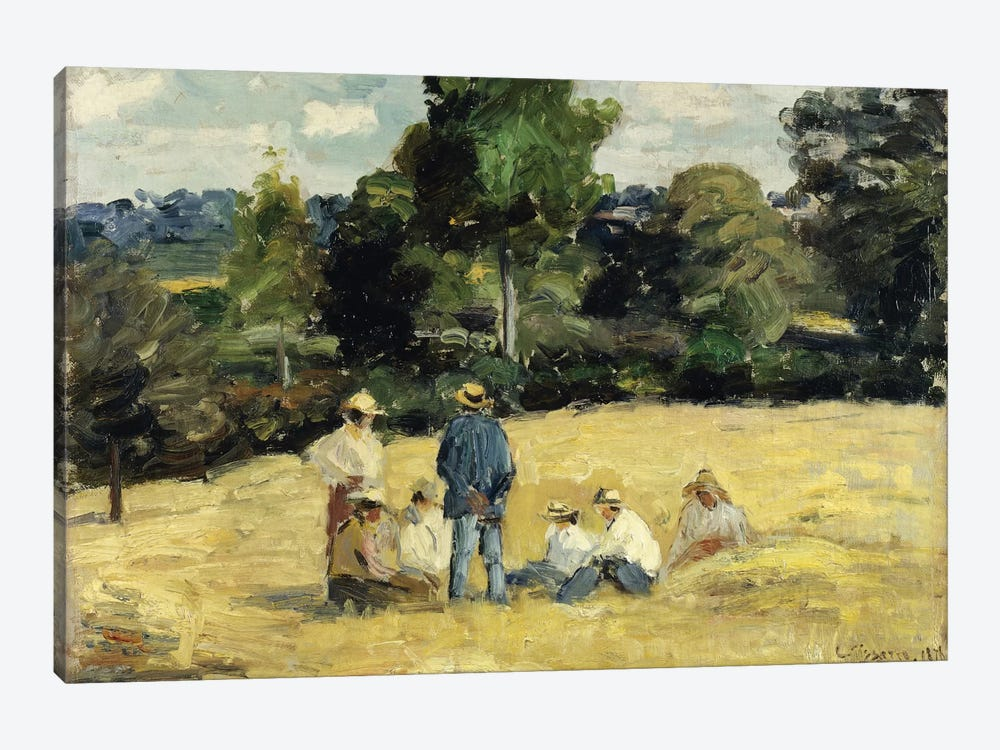 The Harvesters Rest, Montfoucault, 1875 by Camille Pissarro 1-piece Art Print