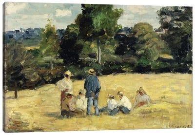 The Harvesters Rest, Montfoucault, 1875 Canvas Art Print