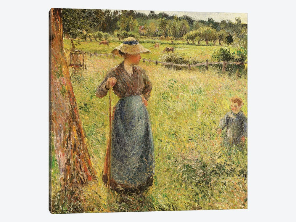 The Haymaker, 1884 by Camille Pissarro 1-piece Canvas Artwork