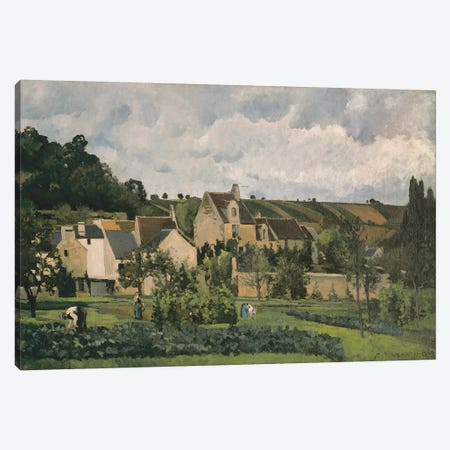 The Hermitage At Pontoise, 1867 Canvas Print #BMN6693} by Camille Pissarro Canvas Wall Art