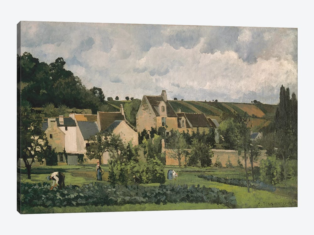 The Hermitage At Pontoise, 1867 by Camille Pissarro 1-piece Art Print