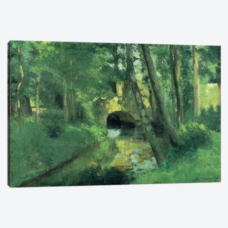 The Little Bridge, Pontoise, 1875 Canvas Print #BMN6694} by Camille Pissarro Canvas Art Print