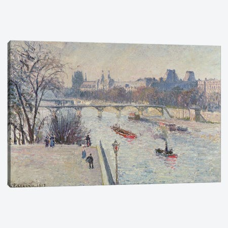The Louvre, 1902 Canvas Print #BMN6696} by Camille Pissarro Art Print