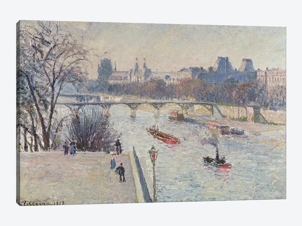 The Louvre, 1902 by Camille Pissarro 1-piece Canvas Wall Art