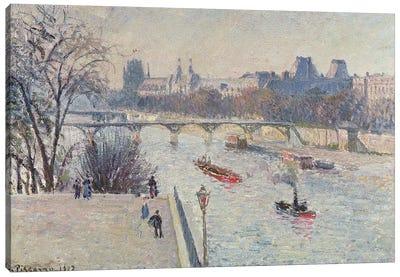 The Louvre, 1902 Canvas Art Print