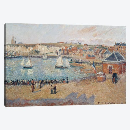 The Outer Harbour At Dieppe, 1902 Canvas Print #BMN6697} by Camille Pissarro Canvas Print