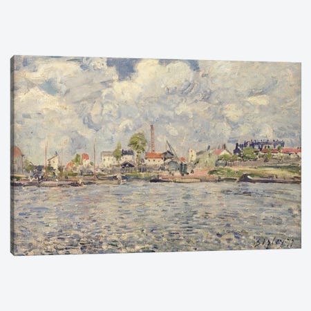 The Outer Harbour Of Le Havre, Quai de Southampton, The Honfleur Boat Leaving The Harbour, 1903 Canvas Print #BMN6698} by Camille Pissarro Canvas Wall Art