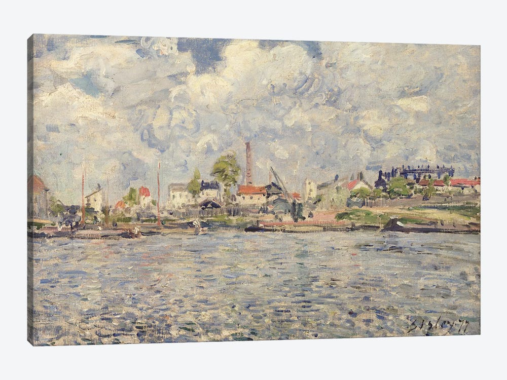 The Outer Harbour Of Le Havre, Quai de Southampton, The Honfleur Boat Leaving The Harbour, 1903 by Camille Pissarro 1-piece Canvas Artwork