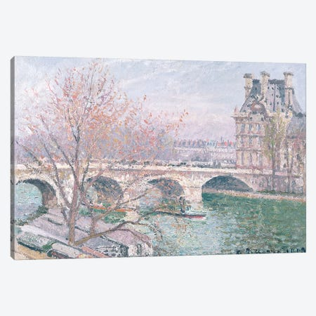 The Pont-Royal And The Pavillon de Flore, 1903 Canvas Print #BMN6699} by Camille Pissarro Canvas Wall Art