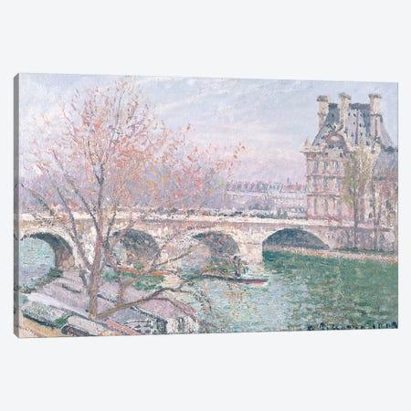 The Pont-Royal And The Pavillon de Flore, 1903 Canvas Print #BMN6699} by Camille Pissarro Canvas Wall Art