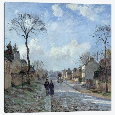 The Road To Louveciennes, 1872 Canvas Print #BMN6702} by Camille Pissarro Canvas Art