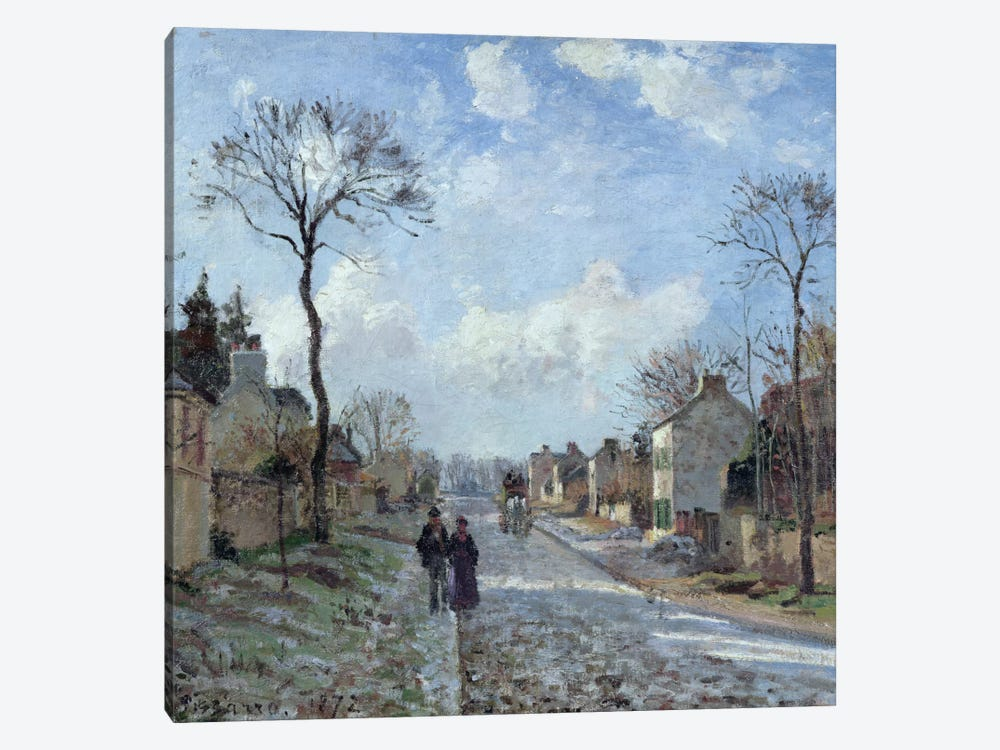 The Road To Louveciennes, 1872 by Camille Pissarro 1-piece Canvas Artwork