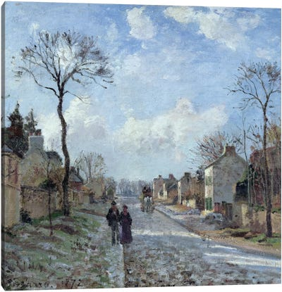 The Road To Louveciennes, 1872 Canvas Art Print