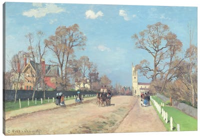The Road To Sydenham, 1871 Canvas Art Print