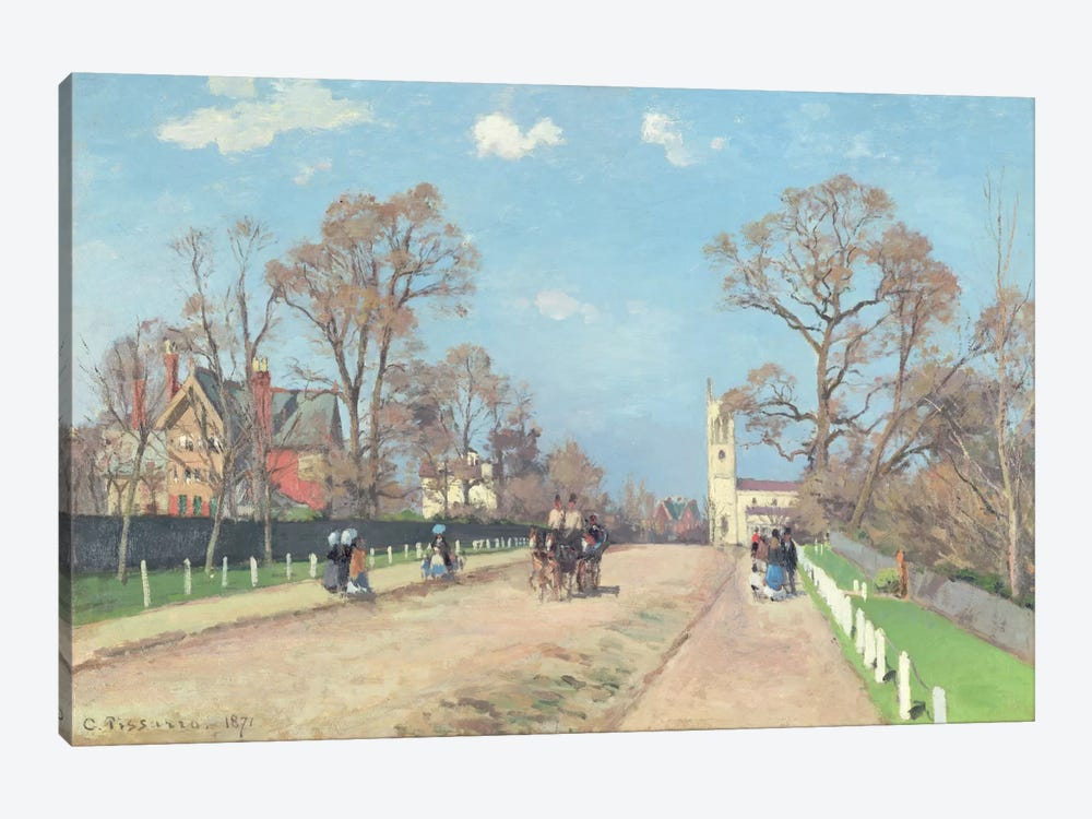The Road To Sydenham, 1871 by Camille Pissarro 1-piece Canvas Art Print