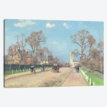 The Road To Sydenham, 1871 Canvas Print #BMN6703} by Camille Pissarro Canvas Wall Art