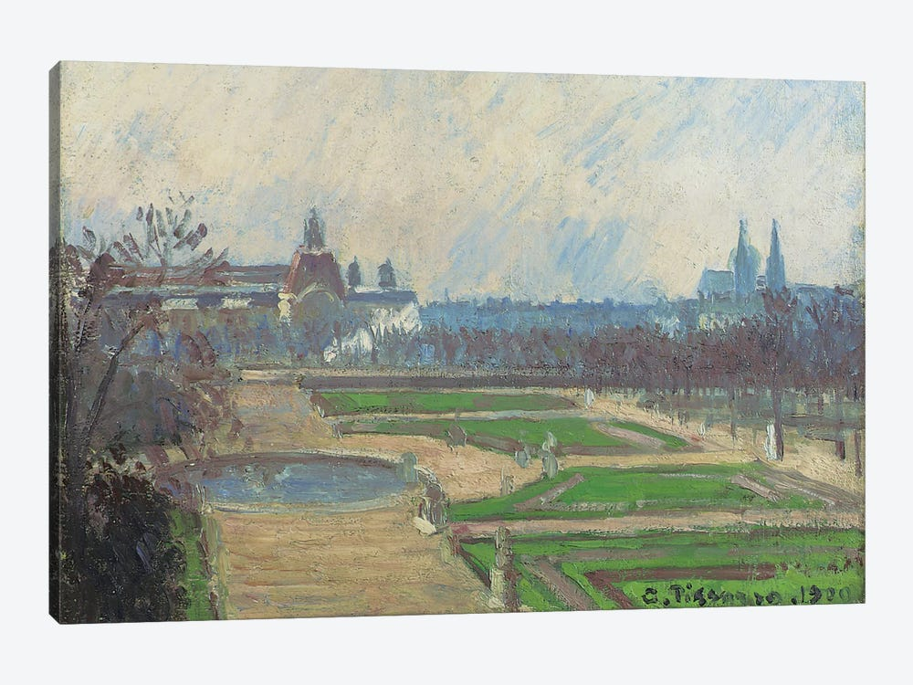 The Tuileries And The Louvre, 1900 by Camille Pissarro 1-piece Art Print