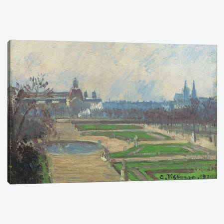 The Tuileries And The Louvre, 1900 Canvas Print #BMN6705} by Camille Pissarro Canvas Art Print