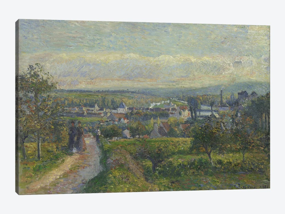 View Of Saint-Ouen-l'Aumone, 1876 by Camille Pissarro 1-piece Canvas Art Print