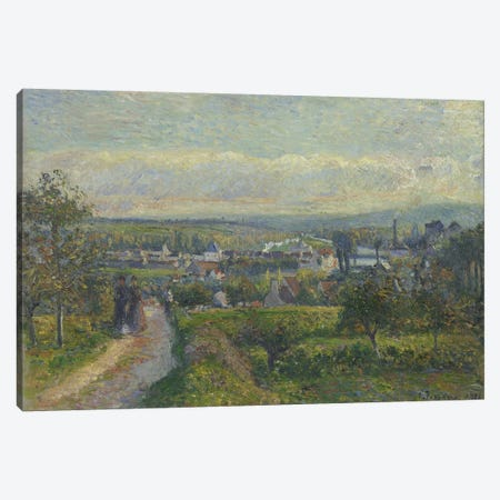 View Of Saint-Ouen-l'Aumone, 1876 Canvas Print #BMN6707} by Camille Pissarro Canvas Art Print