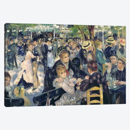 Ball at the Moulin de la Galette, 1876  Canvas Print #BMN670} by Pierre-Auguste Renoir Canvas Print