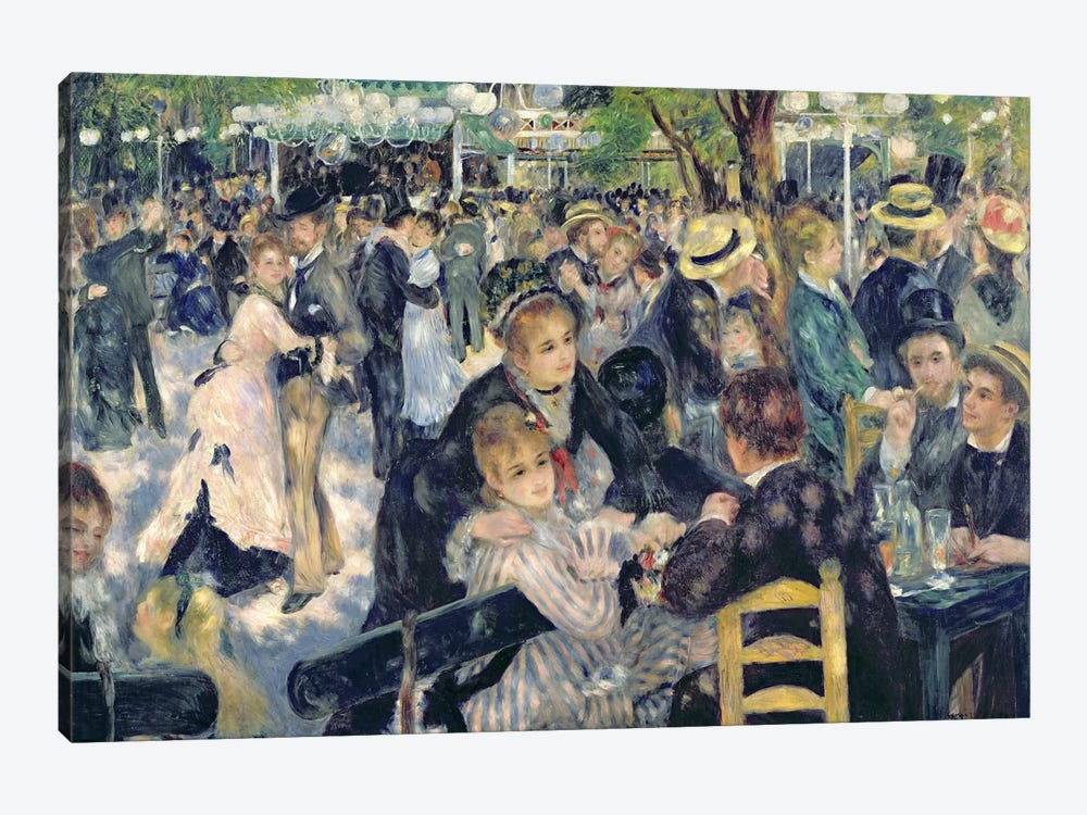 Ball at the Moulin de la Galette, 1876  by Pierre-Auguste Renoir 1-piece Canvas Wall Art