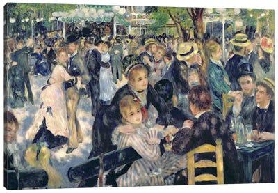 Ball at the Moulin de la Galette, 1876  Canvas Art Print