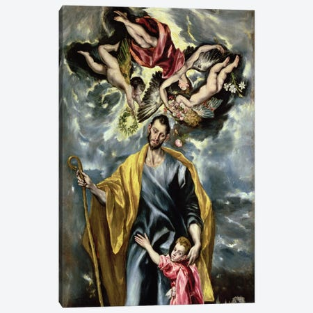 St. Joseph And The Christ Child, 1597-99 Canvas Print #BMN671} by El Greco Art Print