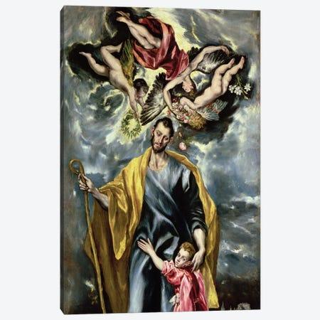 St. Joseph And The Christ Child, 1597-99 Canvas Print #BMN671} by El Greco Art Print