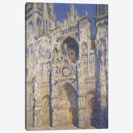 Rouen Cathedral in Full Sunlight: Harmony in Blue and Gold, 1894 Canvas Print #BMN672} by Claude Monet Canvas Print