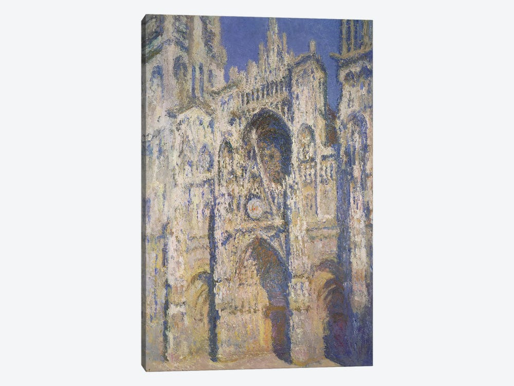 Rouen Cathedral in Full Sunlight: Harmony in Blue and Gold, 1894 by Claude Monet 1-piece Canvas Art