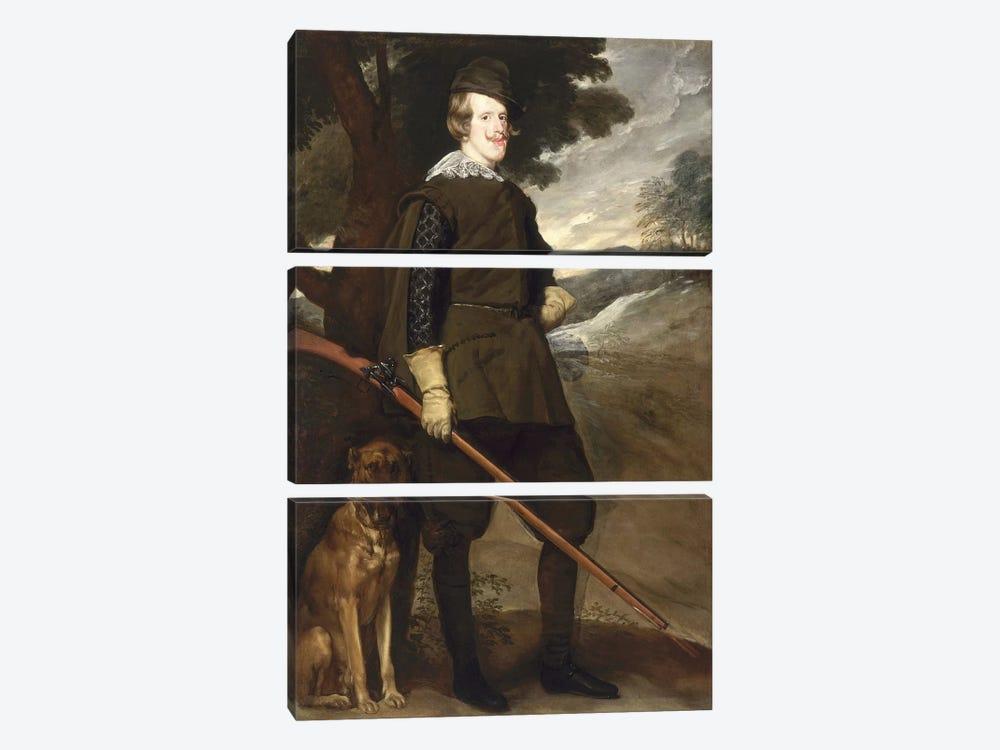 Philip IV  by Diego Rodriguez de Silva y Velazquez 3-piece Art Print