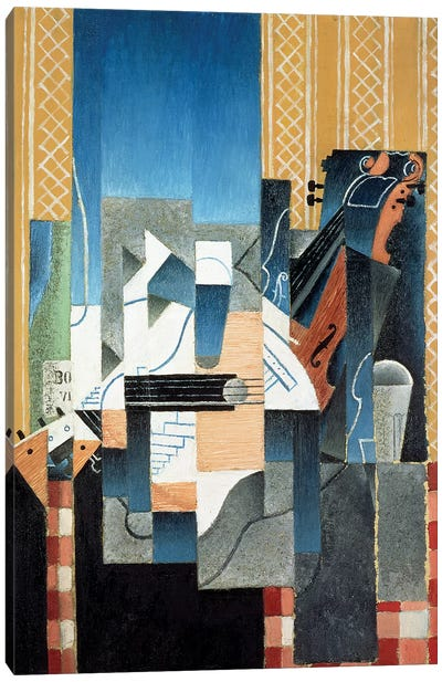 Still Life with Violin and Guitar, 1913 Canvas Art Print