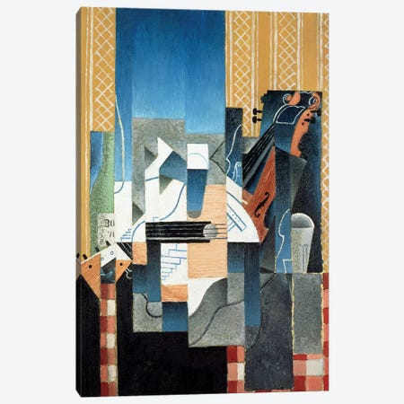 Still Life with Violin and Guitar, 1913  Canvas Print #BMN674} by Juan Gris Canvas Wall Art