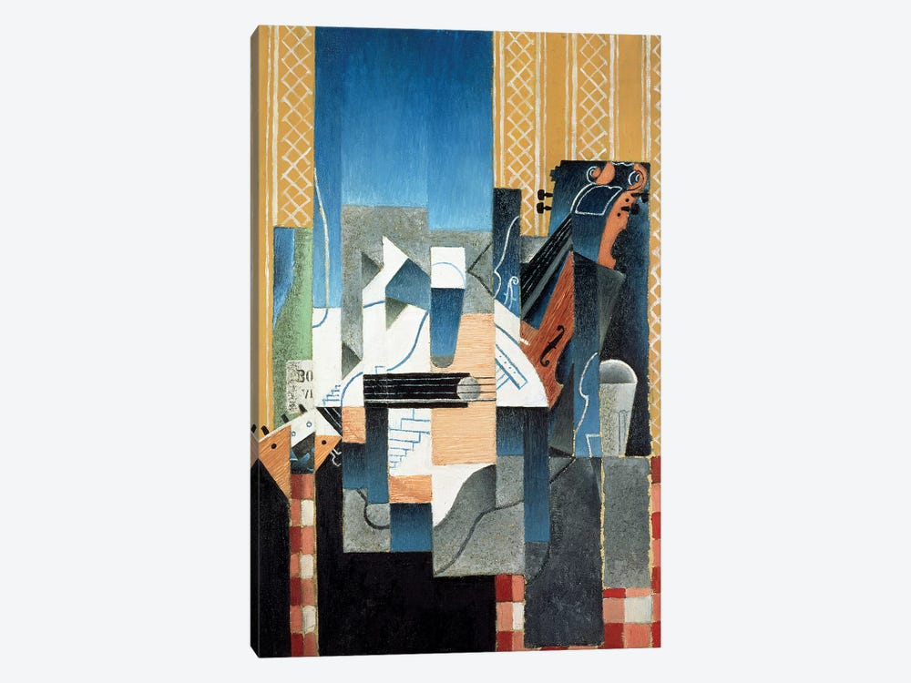 Still Life with Violin and Guitar, 1913  by Juan Gris 1-piece Canvas Wall Art