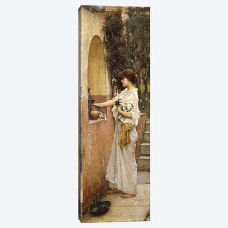 A Roman Offering Canvas Print #BMN6753} by John William Waterhouse Canvas Print