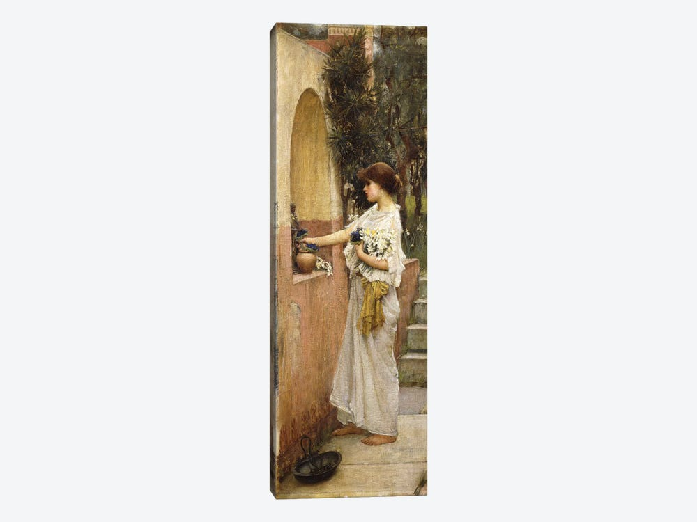 A Roman Offering by John William Waterhouse 1-piece Canvas Art