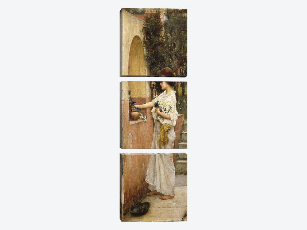 A Roman Offering by John William Waterhouse 3-piece Canvas Art