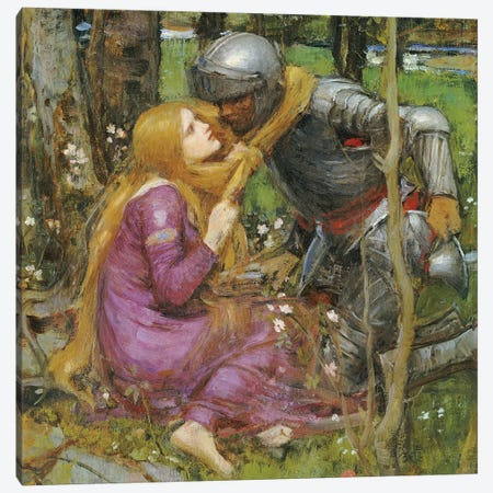 Study For La Belle Dame Sans Merci, c.1893 Canvas Print #BMN6754} by John William Waterhouse Canvas Art